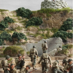 D-Day Cliff with 1/35th figures by Verlinden