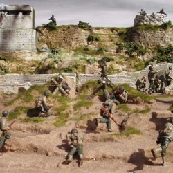 Full D-day set of bases M52F, with 1/32/nd figures by Fusilier