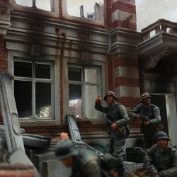 Arnhem houses 1/30th section with figures by 1st Legion