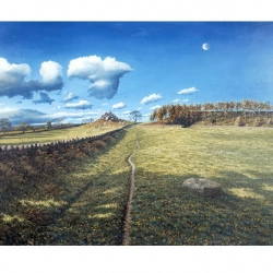 Robin Hoods Stride East side ,Print from original oil painting