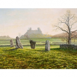 Nine Stones Close , Harthill Moor, Print from original oil painting