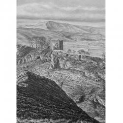Peveril Castle ,Derbyshire print