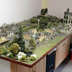 A large diorama by Barry Walker  made up of a selection of EB bases with other items from my Military and Scenic ranges